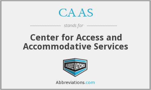 CAAS - Center for Access and Accommodative Services