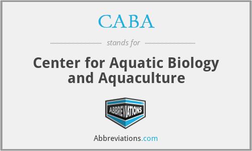 CABA - Center for Aquatic Biology and Aquaculture