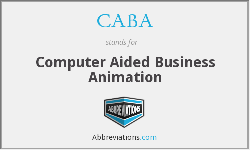 CABA - Computer Aided Business Animation