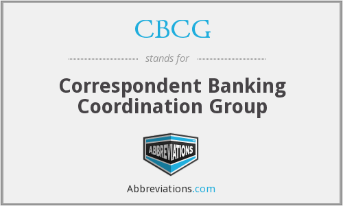 CBCG - Correspondent Banking Coordination Group