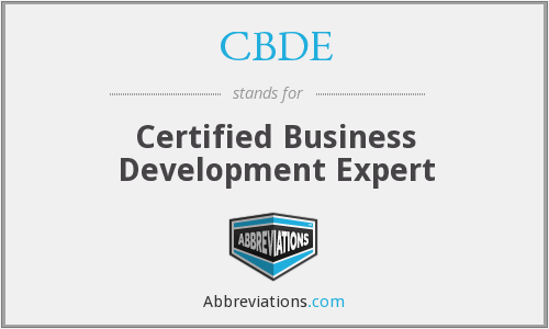 CBDE - Certified Business Development Expert