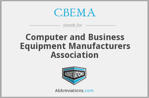What does CBEMA stand for?