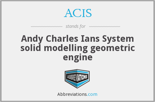 ACIS - Andy Charles Ians System solid modelling geometric engine