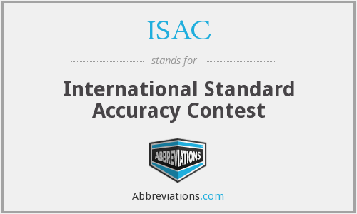 ISAC - International Standard Accuracy Contest