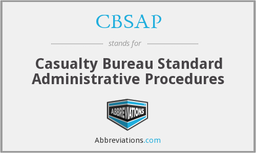 What Is The Abbreviation For Casualty Bureau Standard Administrative