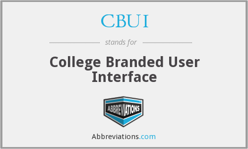 CBUI - College Branded User Interface