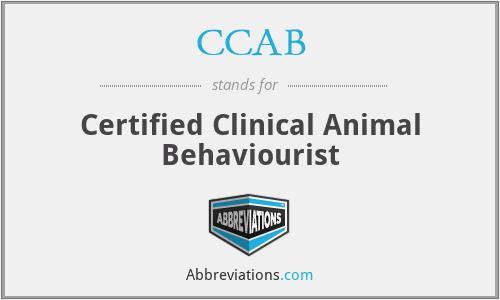 CCAB - Certified Clinical Animal Behaviourist