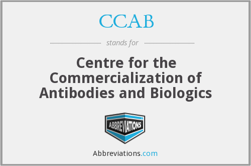 CCAB - Centre for the Commercialization of Antibodies and Biologics