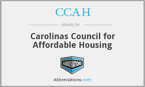 CCAH - Carolinas Council for Affordable Housing