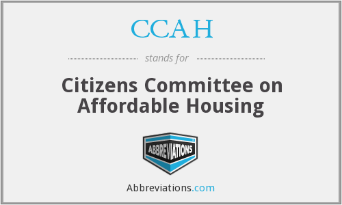 CCAH - Citizens Committee on Affordable Housing