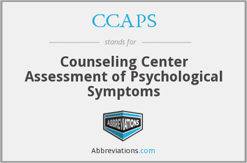 CCAPS - Counseling Center Assessment of Psychological Symptoms