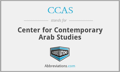 CCAS - Center for Contemporary Arab Studies