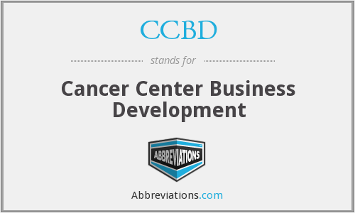 What does CCBD stand for?