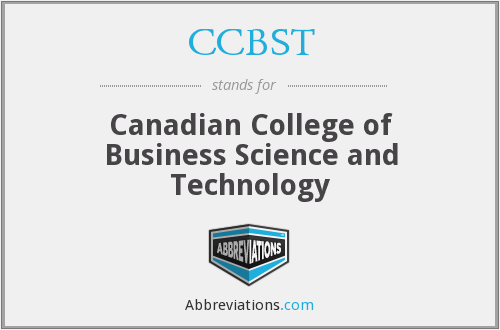What does CCBST stand for?