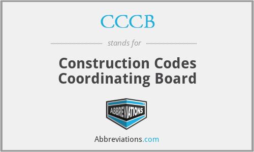 CCCB - Construction Codes Coordinating Board