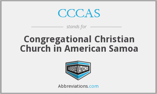 CCCAS - Congregational Christian Church in American Samoa