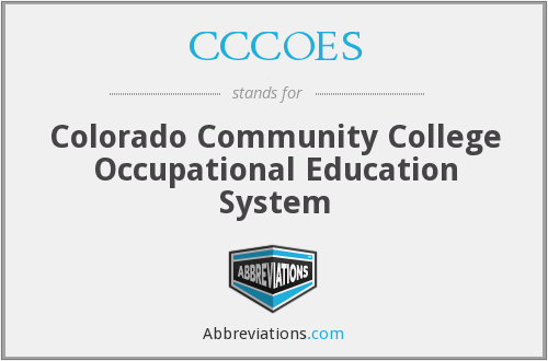 CCCOES - Colorado Community College Occupational Education System