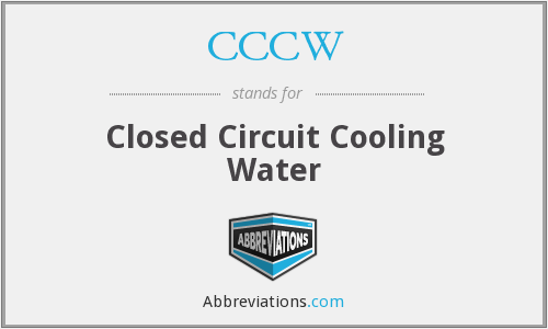 CCCW - Closed Circuit Cooling Water