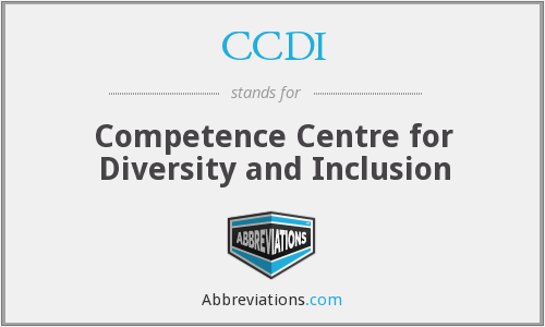 CCDI - Competence Centre for Diversity and Inclusion