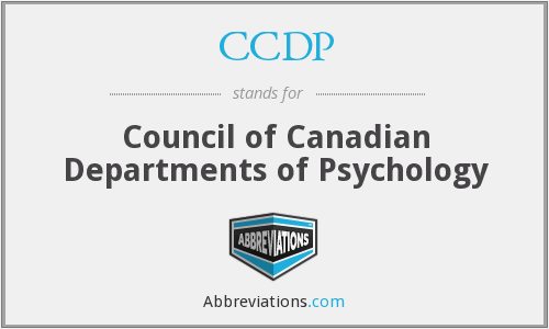 CCDP - Council of Canadian Departments of Psychology