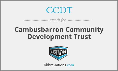 CCDT - Cambusbarron Community Development Trust