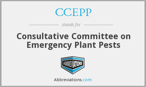 CCEPP - Consultative Committee on Emergency Plant Pests