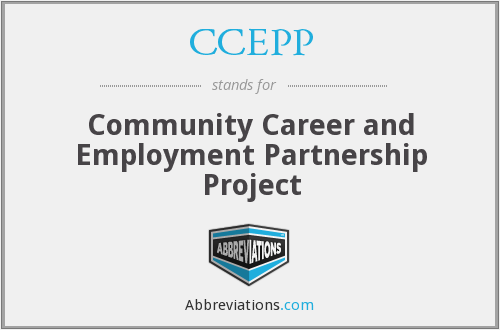 CCEPP - Community Career and Employment Partnership Project