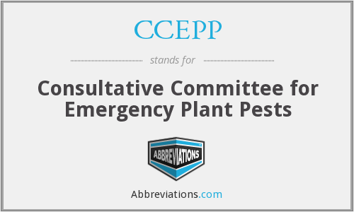 CCEPP - Consultative Committee for Emergency Plant Pests
