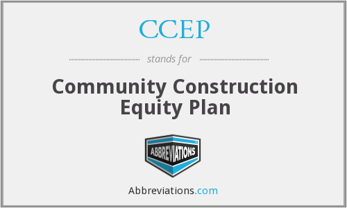 CCEP - Community Construction Equity Plan