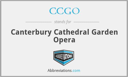 CCGO - Canterbury Cathedral Garden Opera