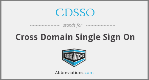 What does CDSSO stand for?