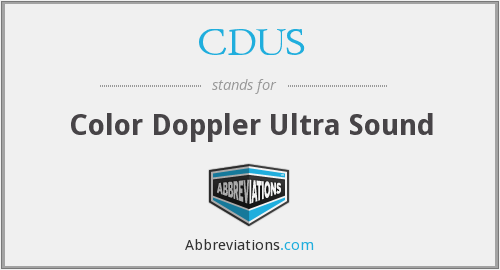 What does CDUS stand for?