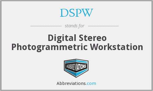 DSPW - Digital Stereo Photogrammetric Workstation