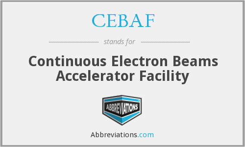 What does CEBAF stand for?