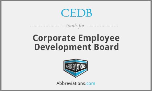 CEDB - Corporate Employee Development Board