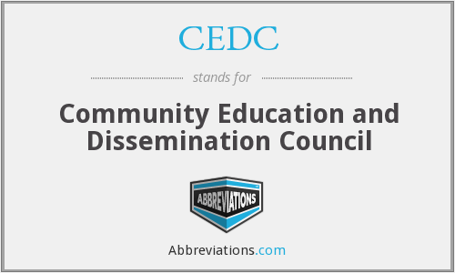 CEDC - Community Education and Dissemination Council