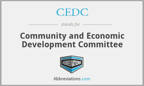CEDC - Community and Economic Development Committee