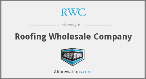 RWC - Roofing Wholesale Company