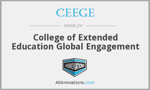 CEEGE - College of Extended Education Global Engagement