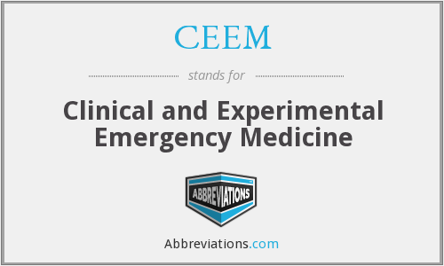 CEEM - Clinical and Experimental Emergency Medicine