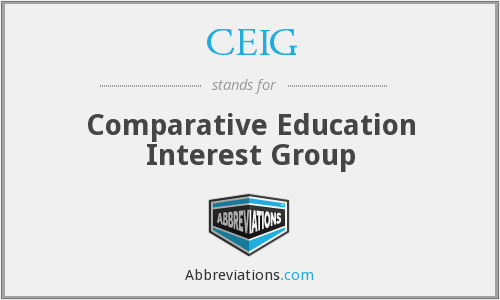 CEIG - Comparative Education Interest Group