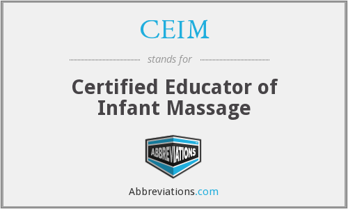 CEIM - Certified Educator of Infant Massage