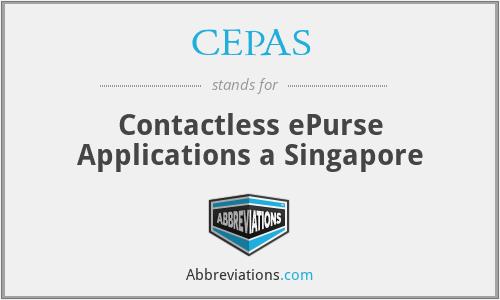 CEPAS - Contactless ePurse Applications a Singapore