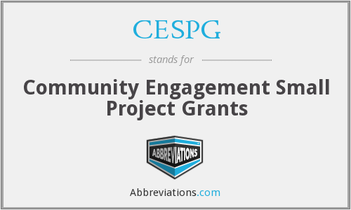 CESPG - Community Engagement Small Project Grants