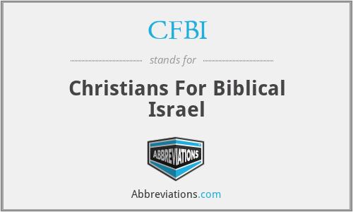 CFBI - Christians For Biblical Israel