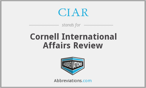 What does CIAR stand for?