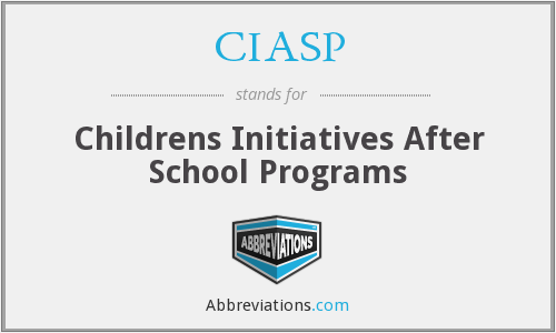 CIASP - Childrens Initiatives After School Programs