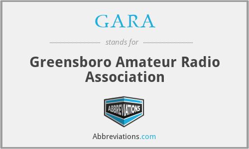 GARA - Greensboro Amateur Radio Association