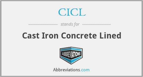 CICL - Cast Iron Concrete Lined