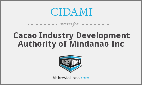 CIDAMI - Cacao Industry Development Authority of Mindanao Inc